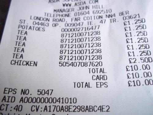 PG TIPS 160 £1.25 in asda