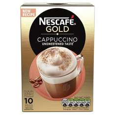 Nescafe cappuccino Gold 10 sachets- 6 pack(60 sachets)- £11.34 delivered, exclusively for Prime members delayed delivery between 23 Mar-24 April- 18.9p/sachet