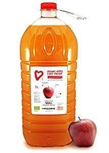 5 Litres - Living Earth Organic Apple Cider Vinegar, Raw,Unpasteurized. Made From Organic Apples. £12.49 prime / £17.24 non prime Sold by Living Earth Foods Ltd and Fulfilled by Amazon