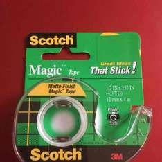 Scotch Magic Tape with dispenser on 39p at Home Bargains