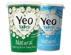 Yeo Valley Organic Natural Yoghurt 500g 82p with PYO Offers and Clicksnap/Checkoutsmart @ Waitrose