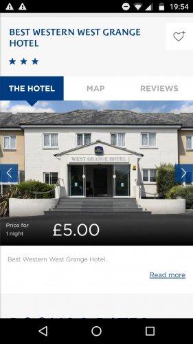 Best Western Grange Hotel Thatcham £5 a night 21/01 @ Best Western