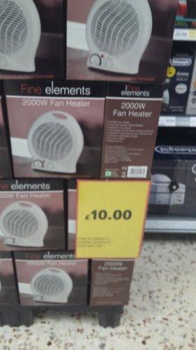 fan heater £10 in Tesco online and instore