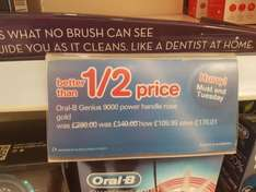 Oral-b Genius 9000 Rose Gold instore £109.99 down from £280 @ Boots