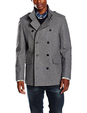 New Look Men's 62% Wool Military Coat - All Sizes - Black/Grey £11.94 (Prime) £16.93 (Non-Prime) @ Amazon.co.uk