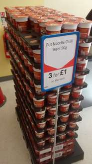 Beef Chilli Pot Noodles 3 for only £1 instore at Heron Foods