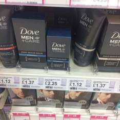 Various Dove men's care products reduced from £1.12 Superdrug in store