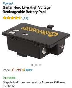 Guitar Hero Live Rechargeable Battery Pack £1.99 prime / £3.98 non prime @ Amazon