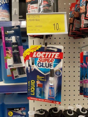 Loctite super glue liquid 3g 10p in B&M instore