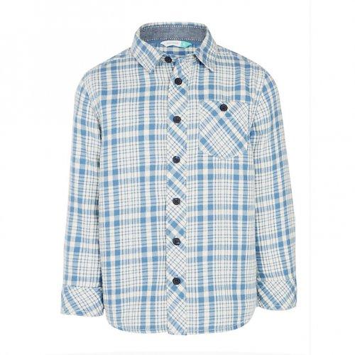 John Lewis Boys' Multi Colour Check Shirt, Blue/Cream £7.00 - £8.00 @ johnlewis