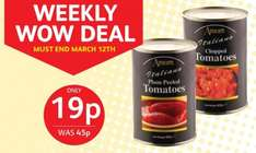 Poundstretcher Weekly Wow Deal Amore Italian Plum Peeled & Chopped Tomatoes 19p were 45p
