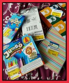 Morrisons (Blackburn) - pens pencil crayons jumbo markers notebooks folders and arch folders all reduced between 25p and £2.00
