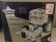 Tommee Tippee Closer To Nature Complete Feeding Kit 60% off £65 instore at Mothercare