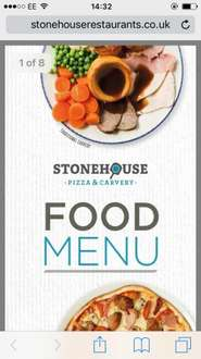Monday 2 for 1 carvery (Regular £5.49/Large £6.99) @ Stonehouse Restaurants (Please see comment #1 for participating venues)