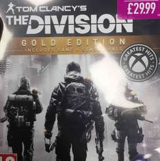 The Division Gold Edition £29.99 instore at Game