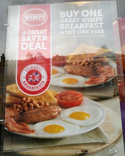 Wimpy: Wimpy Great Breakfast BOGOF £5.65