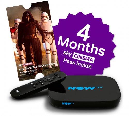 NOW TV smart box £36.99 - Argos - 4 months cinema pass