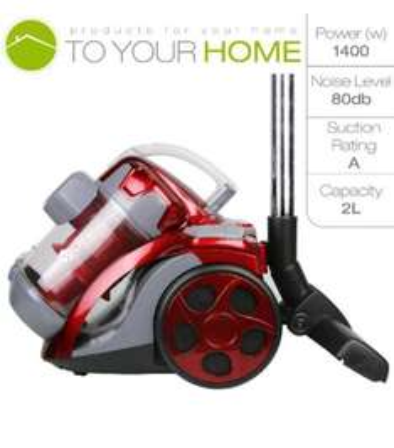 Dihl 1400W 2.0L Cylinder Bagless Powerful Compact Vacuum Cleaner - £36.99 via eBay (seller: toyourhomeltd)
