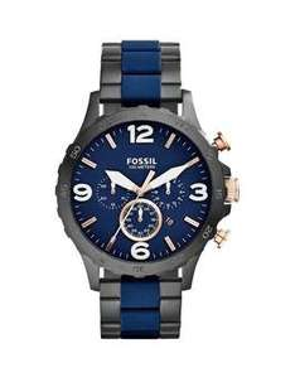 Fossil Men's Nate Navy & Black Bracelet Watch £79.99 H Samuel