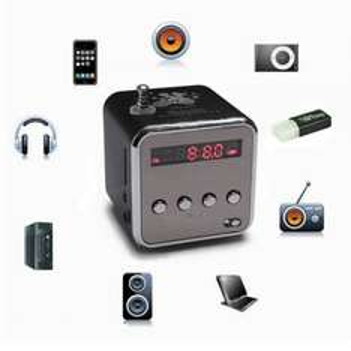 TD-V26 Portable Mini Stereo FM Radio MP3 Speaker Music Player Support Micro SD TF USB  £5.45 @ Banggood