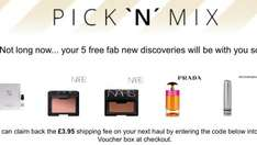 Choose 5 premium beauty samples and only pay £3.95 postage at Feel unique (can be redeemed against future orders)