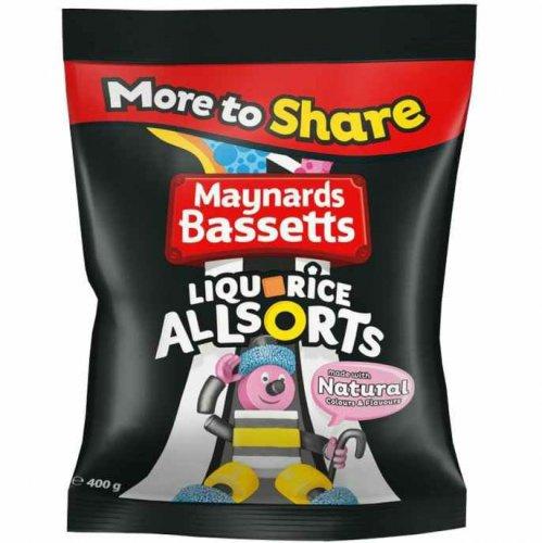 Maynards Bassetts liquorice allsorts 500g bag just £1 rrp £2 @ poundstretcher