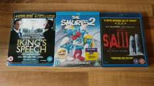 The Kings Speech, Smurfs 2, saw 2 Blu-ray - £1 @ poundland