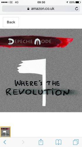 Depeche Mode Where's the Revolution Vinyl £6.70 prime / £8.69 non prime Amazon