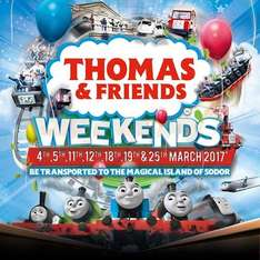 Half price Thomas & Friends weekends tickets Adult aged 12+ was £30 now £15, 4 - 11 was £20 now £10 @ Thomas Land / Drayton Manor
