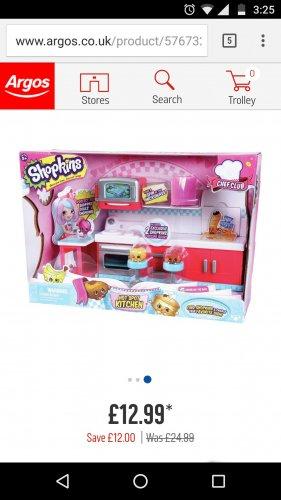Shopkins Chef Club Hot Spot Kitchen Playset £12.99 @ Argos