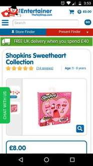 Shopkins Sweetheart Collection £8 @ The Entertainer