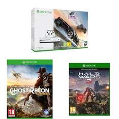 Xbox One S (1TB) with Forza Horizon 3 / Ghost Recon Wildlands AND Halo Wars 2 - £274.99 - Amazon