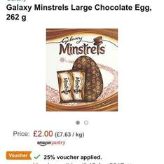 Amazon pantry large Easter eggs £1.50 with voucher delivered