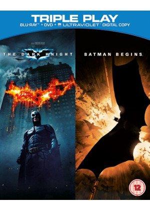 Batman Begins / The Dark Knight - Triple Play (Blu-ray+DVD+UV Copy) £3 in store @ Fopp