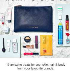 Beauty gift set, value of £100, free with £100 spend at Feel Unique