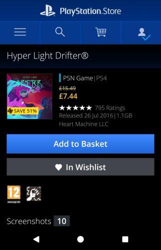 Hyper Light Drifter £7.44 @ PSN