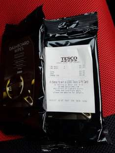 Dashboard Wipes - 37p instore @ Tesco