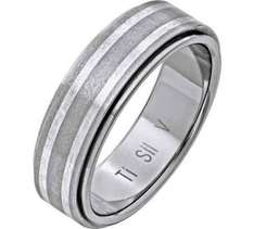 Titanium 2 Coloured Matte and Polished Band Ring now £2.99 Argos (store order)