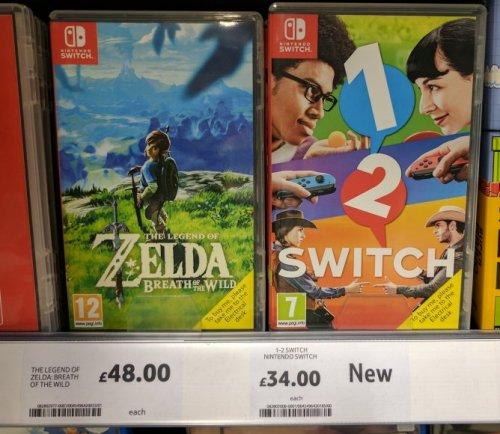 Switch games in store £32 / £48 Tesco Extra Bangor, Gwynedd