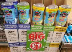 Plenty Easy Clean Wet Wipes Starter Kit + 30 Large Wipes in Multi-Purpose, Anti-Bacterial and Bathroom £1 @ Poundland In Store