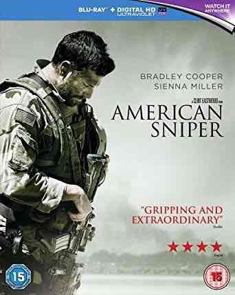 American Sniper Blu-Ray [Region Free]- Amazon - £5 (Prime) £6.99 (Non Prime)