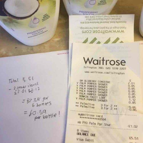 palmolive shower cream £0.39 250ml instore @ Waitrose