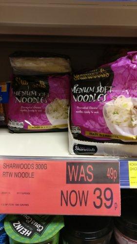 Sharwoods Medium ready to eat noodles (300g) 39p instore @ B&M