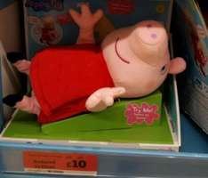 Peppa Pig - Laugh with Peppa soft toy £10 @ Sainsbury's instore