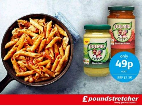 Dolmio tomato pesto and basil pesto 187g rrp £1.50 just 49p @ poundstretcher