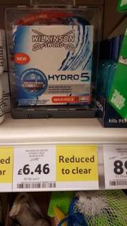 Hydro 5 8 pack wilkinson sword blades £6.46 tesco Stalybridge