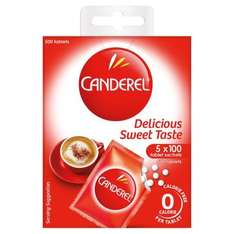Canderel 5 Refill Sachets 500 Pack Half Price was £4.84 now £2.42 @ Tesco