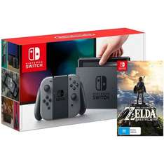 Nintendo Switch with a digital download of Zelda for £319.99 at Smyths