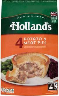 Holland's Potato & Meat Pies (4 x 184g) was £2.97 now £2.00 @ Morrisons