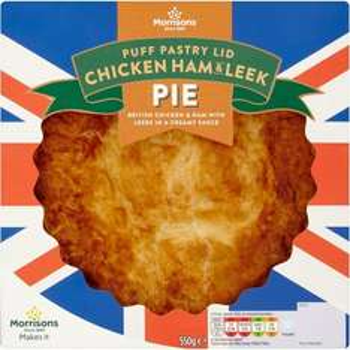 Morrisons Puff Pastry Chicken, Ham & Leek Pie 550g was £3.48 now £2.00 @ Morrisons